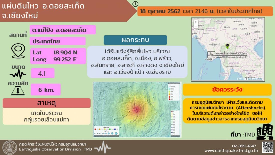 Earthquake could hit Chiang Mai and Chiang Rai   News by Thaiger