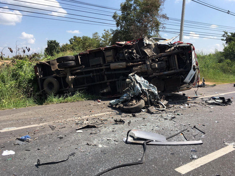Ubon Ratchathani collision kills seven, seriously injures four   News by Thaiger