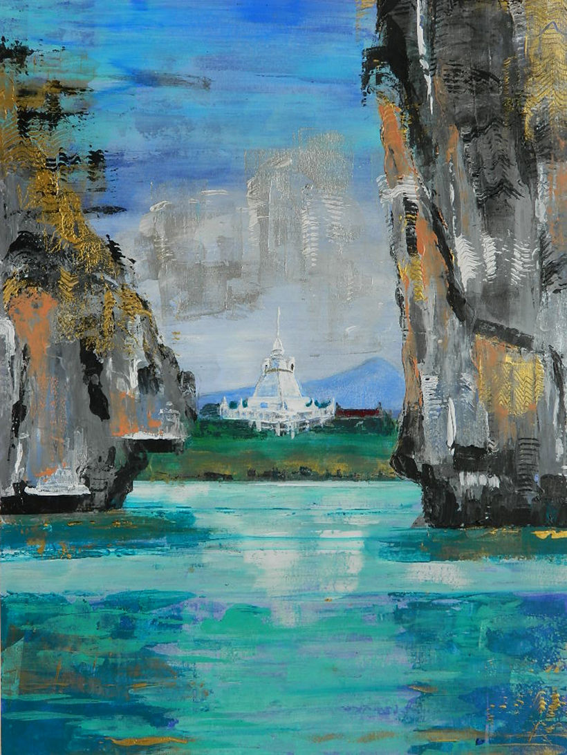 'Phang Nga Bay and Beyond' exhibition by Marilyn Band at Mom Tri's WOK Gallery Kitchen in November | News by Thaiger