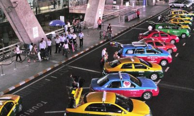 Bangkok airport taxi drivers protest over ride-sharing apps   The Thaiger