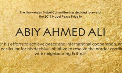 Nobel Hòa bình 2019 trao cho nhà lãnh đạo trẻ Abiy Ahmed Ali | Thaiger