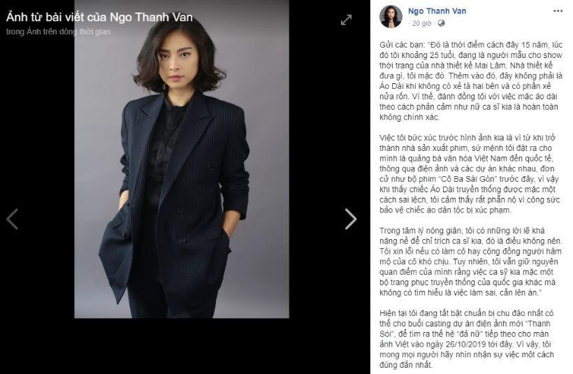Ngô Thanh Vân đáp trả khi bị tố không tôn trọng quốc phục trong quá khứ | News by Thaiger