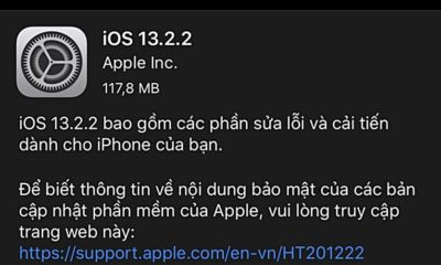 Apple tức tốc phát hành bản cập nhật iOS 13.2.2 để sửa lỗi đa nhiệm oái oăm | Thaiger