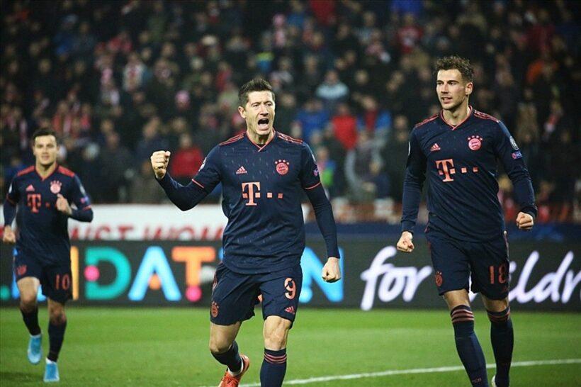 Bayern hủy diệt Crvena Zvezda, Lewandowski san bằng kỷ lục của Messi   News by Thaiger