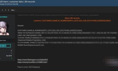 2 triệu dữ liệu của khách hàng ở Maritime Bank nghi bị đánh cắp | The Thaiger