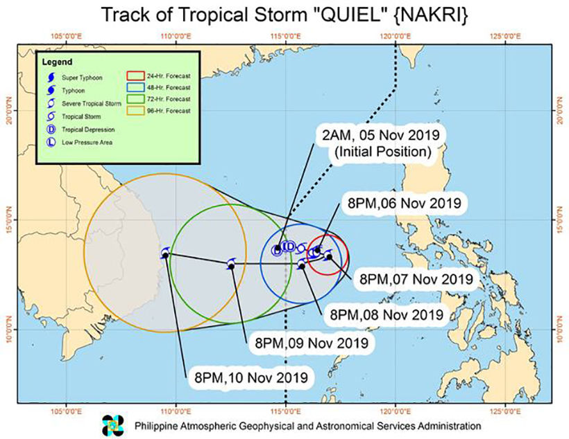 Slow-moving tropical storm Nakri heads towards Vietnam coast   News by Thaiger