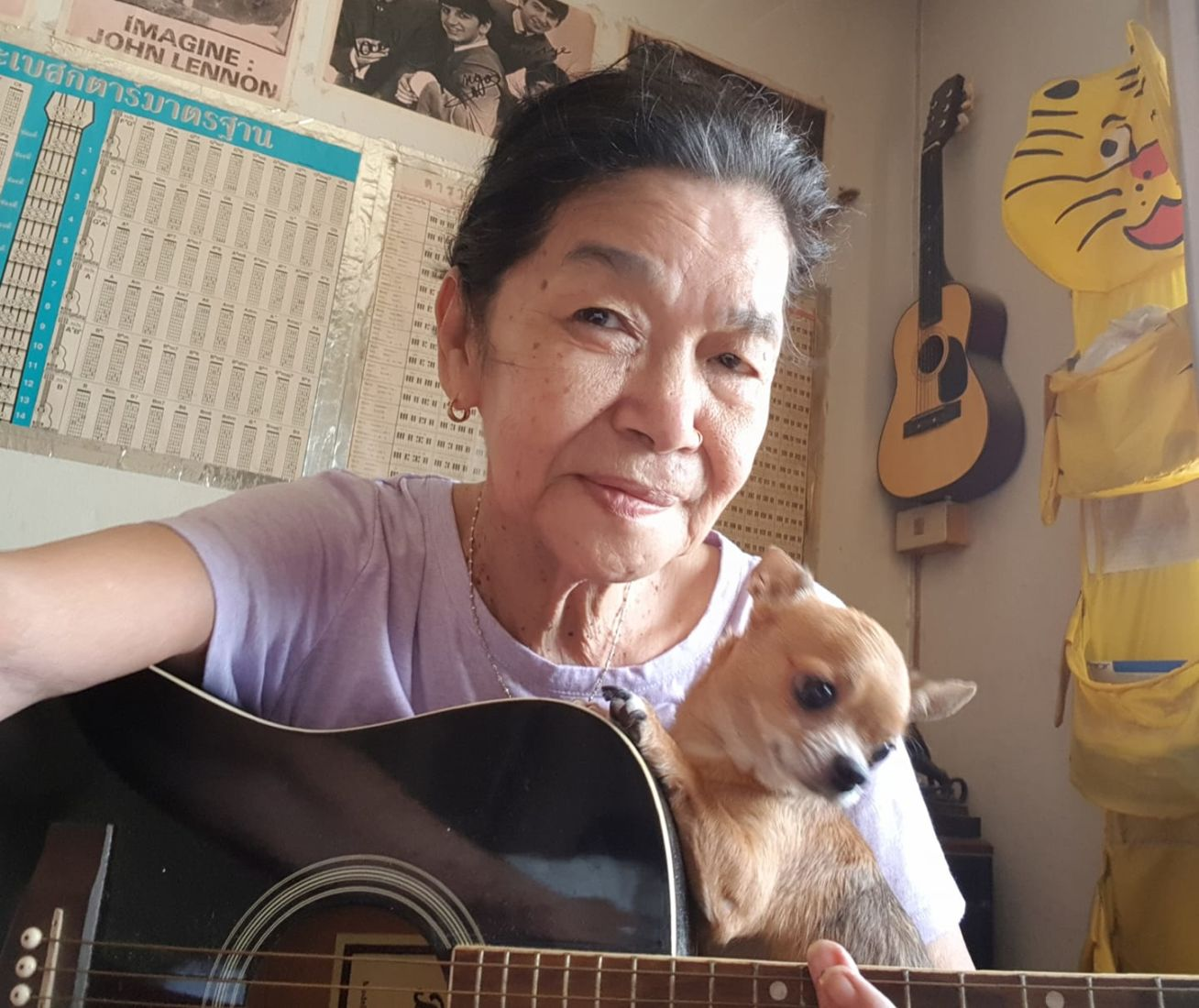 A Thai grandmother, a stroke, four dogs and a cat = musical magic   News by Thaiger