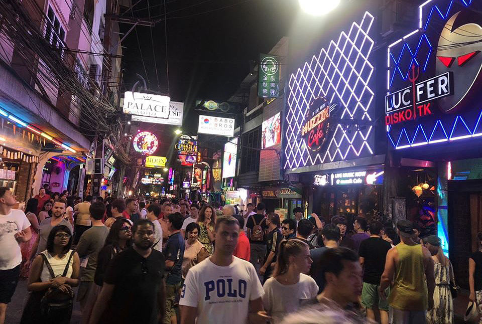 """Pattaya's Walking Street is """"heaving with tourists"""". But... 
