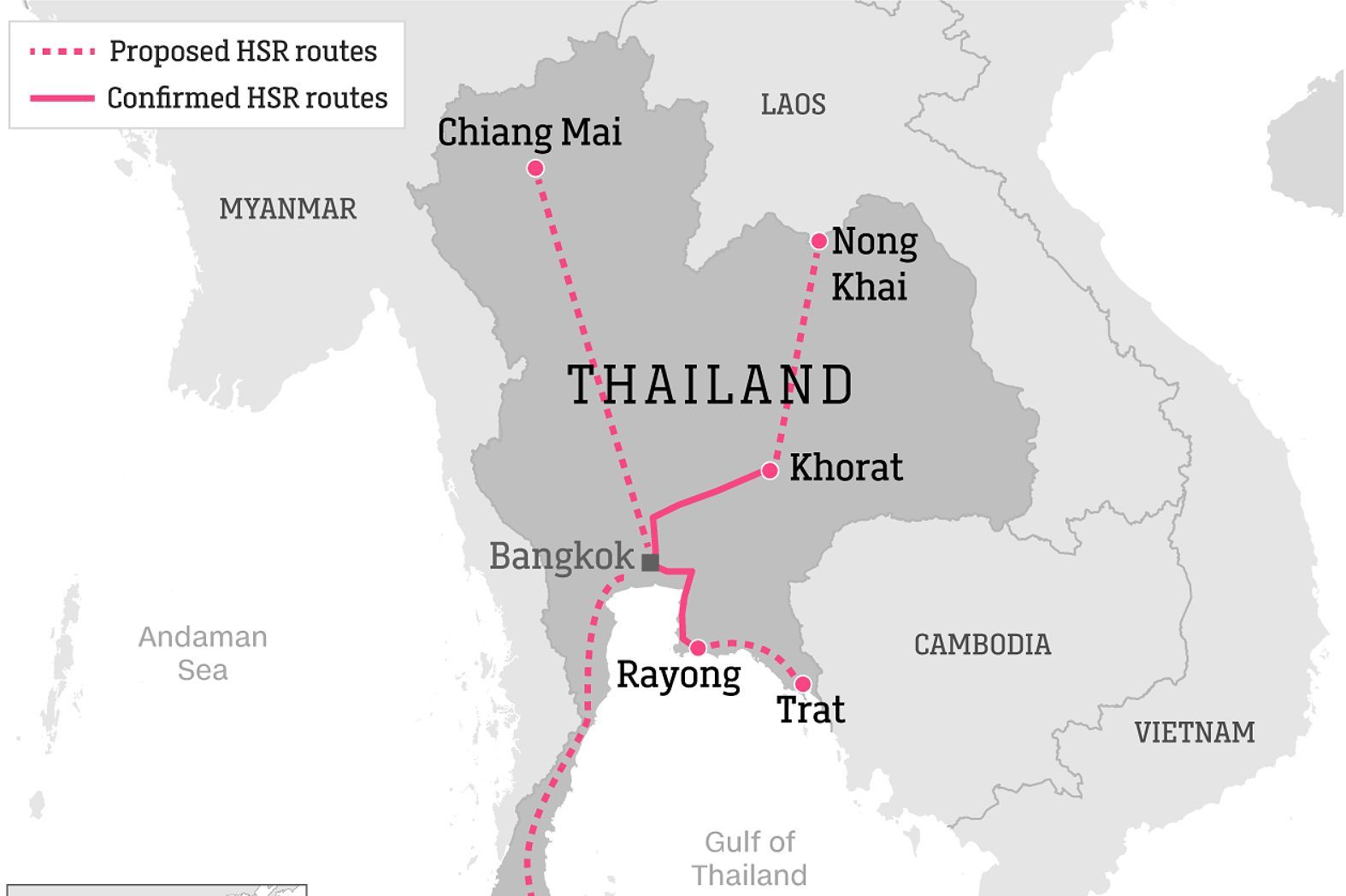 """Thailand's high speed rail future """"not the right fit"""" 