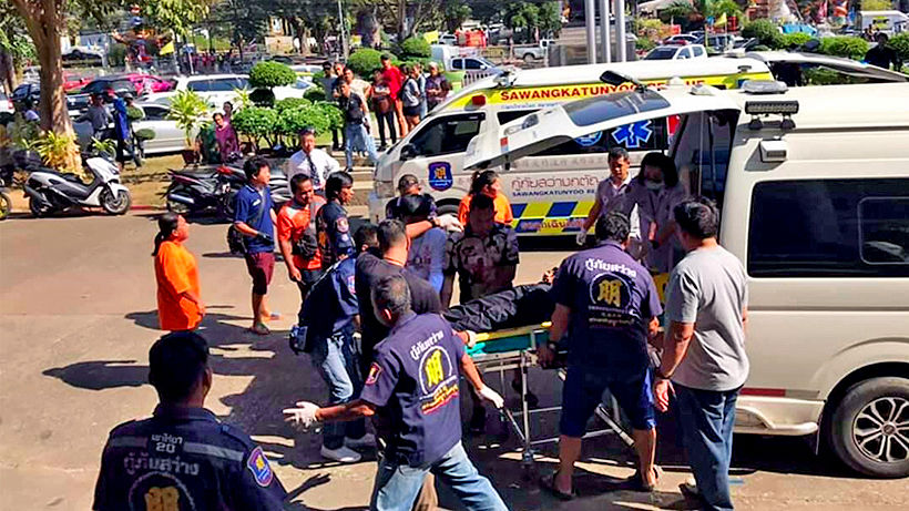 Three die following court shooting in Chanthaburi, two more injured | The Thaiger