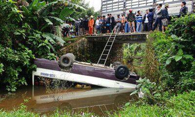 Quảng Nam: Xe khách rơi xuống cầu, nhiều người bị thương | The Thaiger