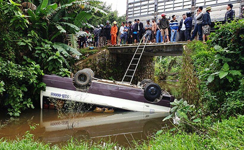Quảng Nam: Xe khách rơi xuống cầu, nhiều người bị thương | Thaiger