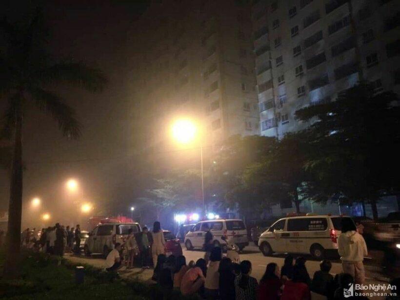 Nghệ An: Cháy chung cư khiến hàng chục người mắc kẹt   News by Thaiger