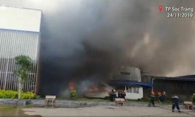 Sóc Trăng: Cháy Công ty may Nhà Bè   The Thaiger