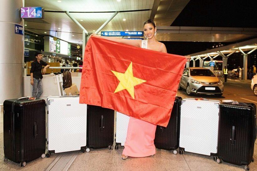 Hoàng Thùy lên đường dự thi Miss Universe 2019 | News by Thaiger