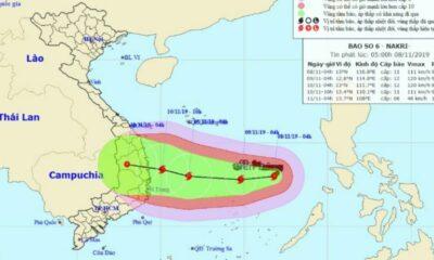 Tin mới nhất về bão số 6 Nakri: Tiếp tục tăng độ mạnh, đổi hướng bất ngờ | Thaiger