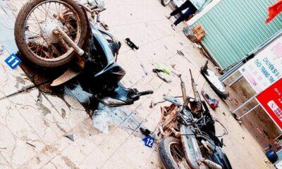 Bình Phước: Thùng container rơi làm 2 vợ chồng tử vong | The Thaiger