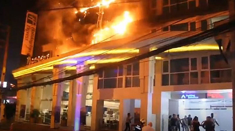 Pattaya hotel fire causes over a million baht in damages