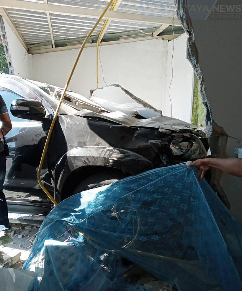 Sleeping woman seriously injured after car ploughs into her home in Sri Racha | News by Thaiger