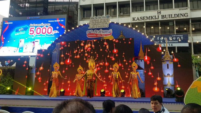 Bangkok's new Silom Road walking street a great success | News by Thaiger