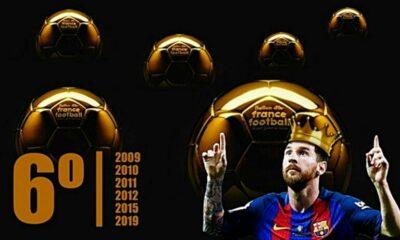 Nhìn lại 6 lần nâng cao danh hiệu Quả bóng vàng của Lionel Messi | The Thaiger