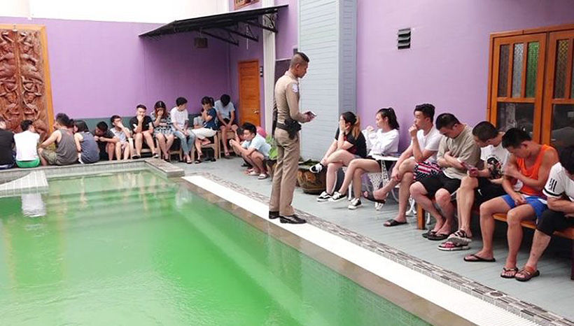 Over 50 Chinese youth arrested for running scam call centre from Samui hotel   News by Thaiger