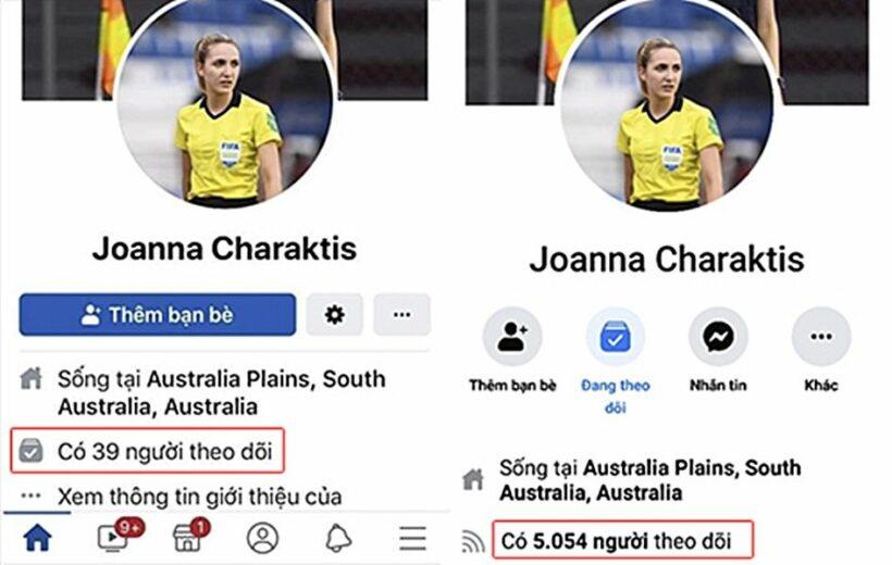 Nữ trọng tài trận đấu Việt Nam vs Thái Lan Joanna Kate Charaktis khóa tài khoản Facebook | News by Thaiger