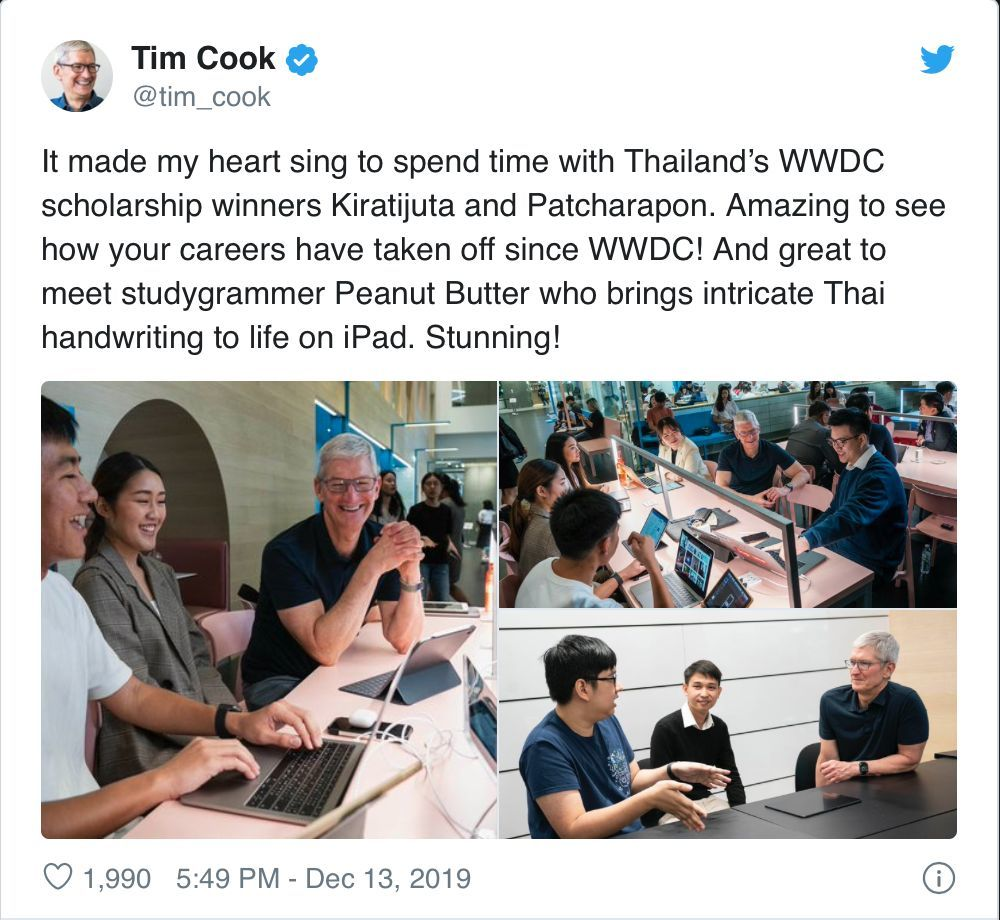 Apple's Tim Cook drops into Bangkok during Asia tour | News by Thaiger