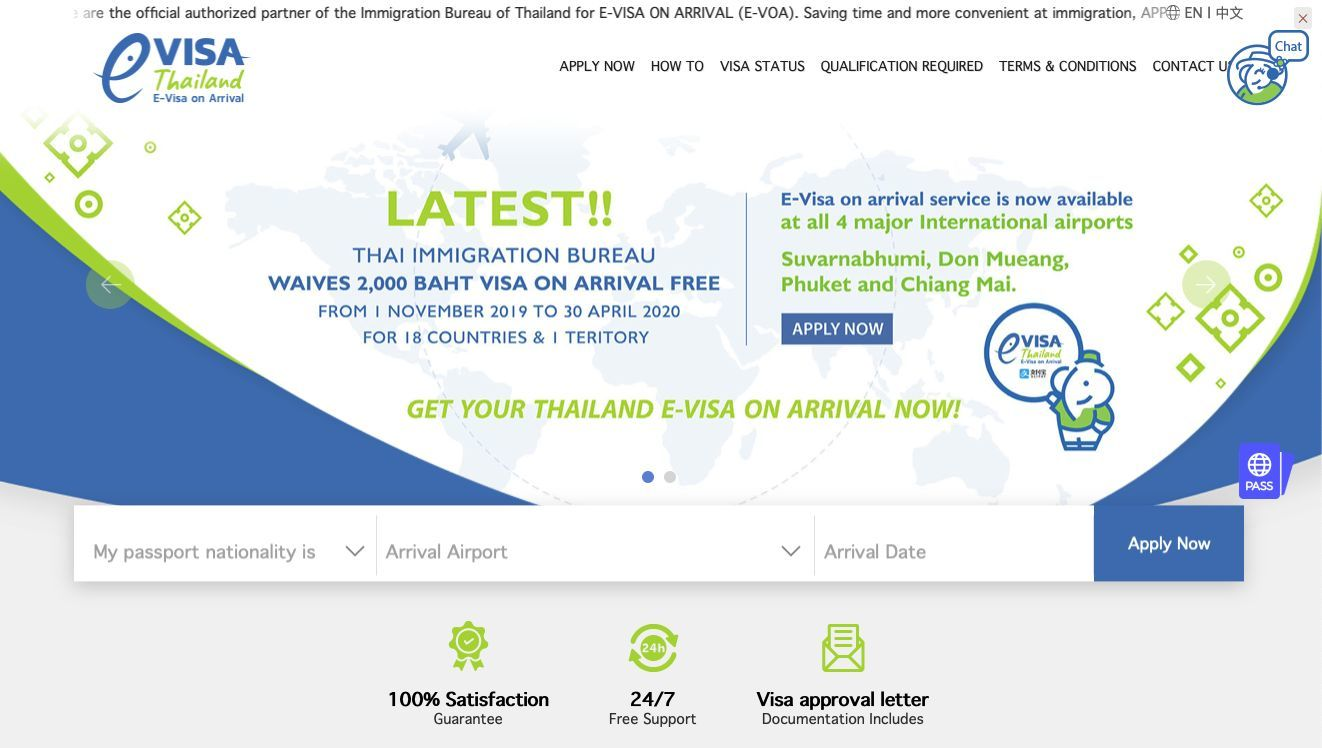 Tourism Authority of Thailand says three websites now provide electronic visa-on-arrival | News by Thaiger