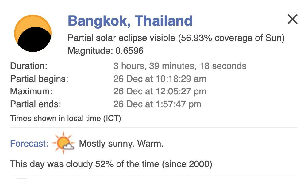 Solar eclipse today across Thailand. Here's how to watch it. | News by Thaiger