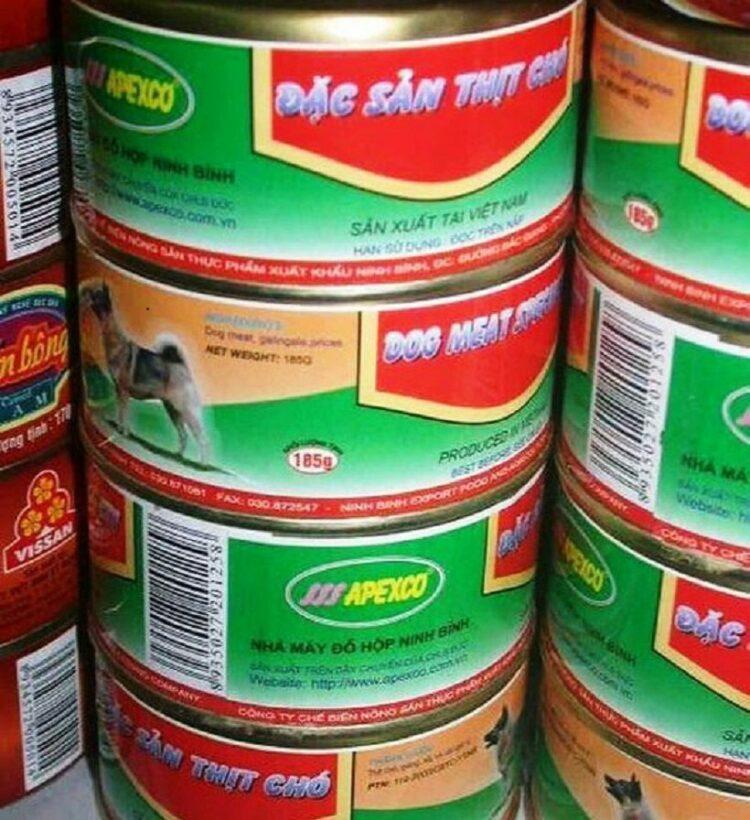 Hình ảnh thịt chó đóng hộp lan truyền MXH: Ninh Bình khẳng định không cấp phép, không có việc bán sản phẩm này tại địa phương | News by Thaiger