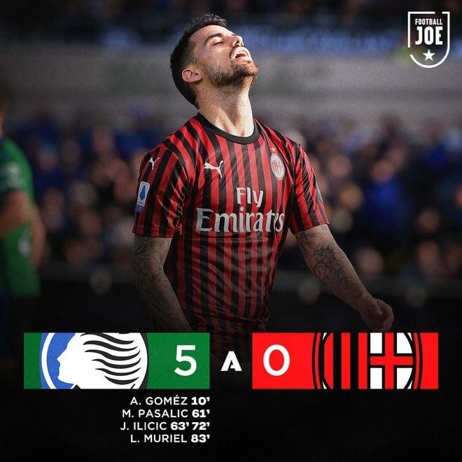 Milan thua đậm 0 - 5 trên sân Atalanta   News by Thaiger