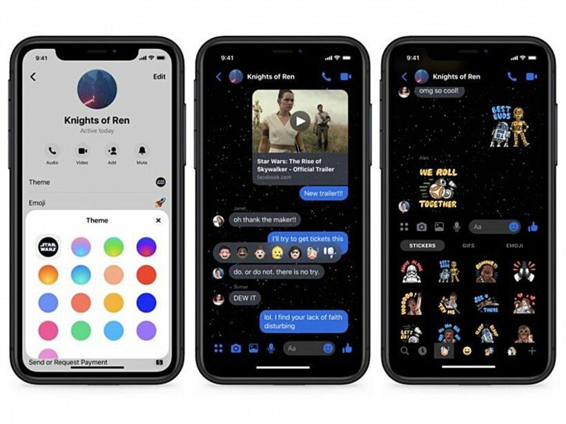 Facebook Messenger chèn giao diện mới với chủ đề Star Wars bắt mắt   News by Thaiger