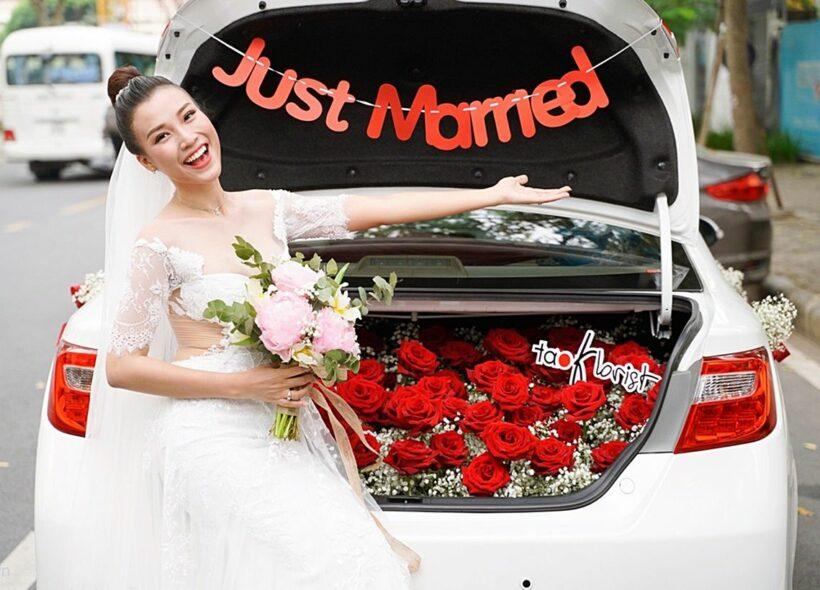 Á hậu Hoàng Oanh xinh đẹp trong ngày cưới | News by Thaiger