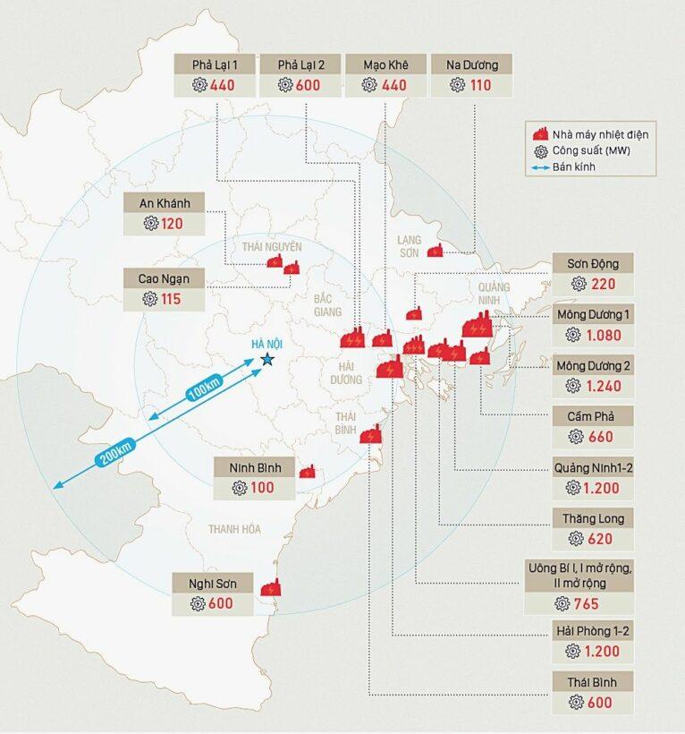 Hà Nội bị bao quanh bởi 20 nhà máy nhiệt điện than | News by Thaiger