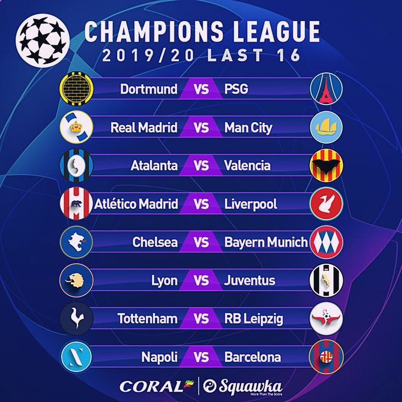 Kết quả Bốc thăm vòng 1/8 Cúp C1: Liverpool, Man City đại chiến thành Madrid | News by Thaiger
