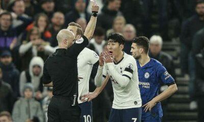 Tottenham kháng cáo bất thành thẻ đỏ của Son Heung-min   The Thaiger