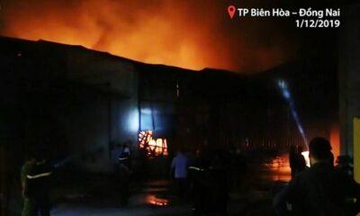 Đồng Nai: Công ty sản xuất mica cháy lớn | The Thaiger