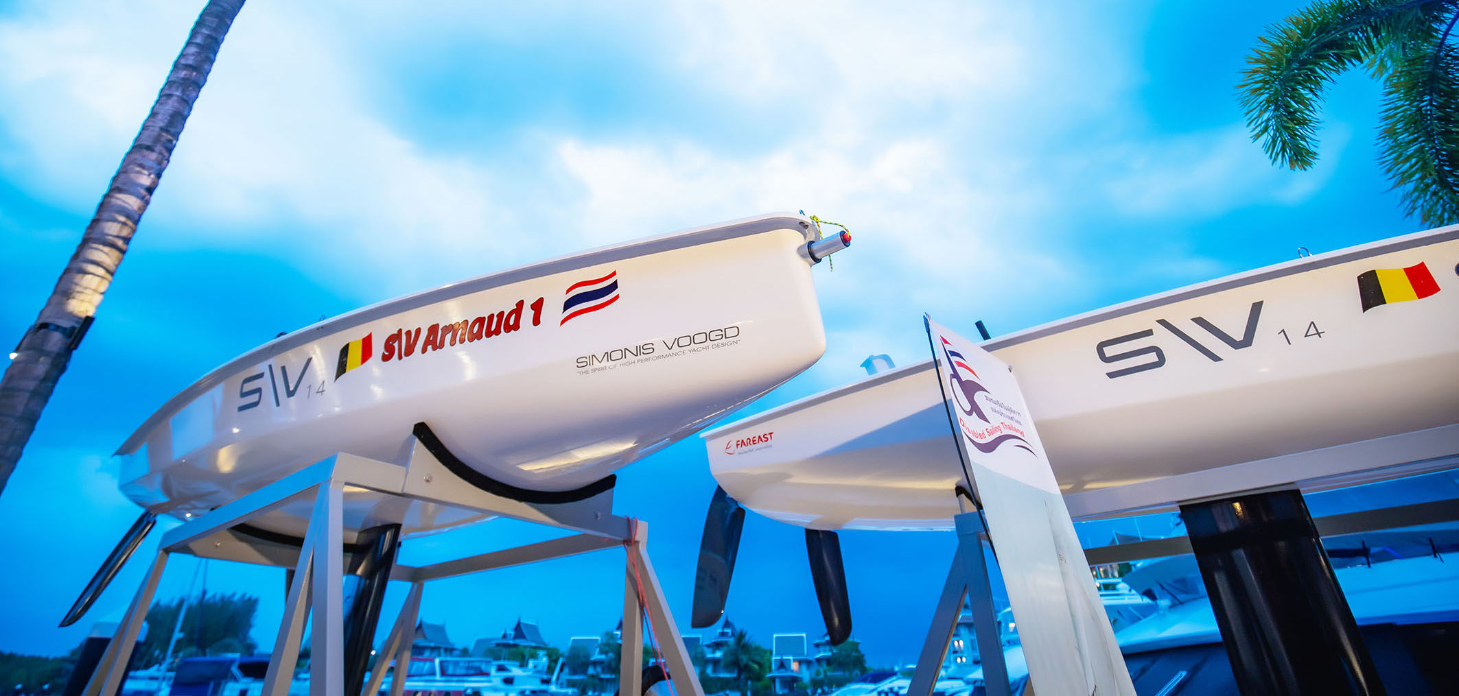 Two new SV 14 boats donated to Disabled Sailing Thailand in Phuket | News by Thaiger