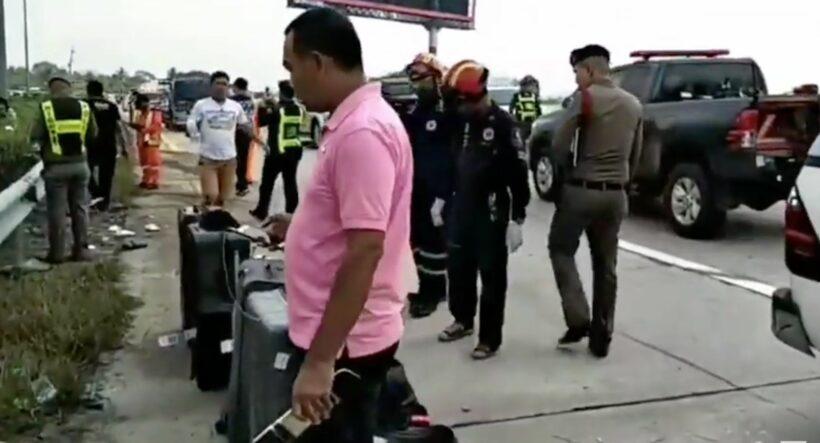 Eight British tourists injured in Thai passenger van crash - VIDEO   News by Thaiger
