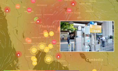 Air purifiers installed at Victory Monument whilst southern winds blow the smoke north | The Thaiger