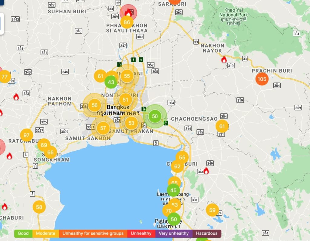 Air quality improves in Bangkok, North still battling some haze | News by Thaiger