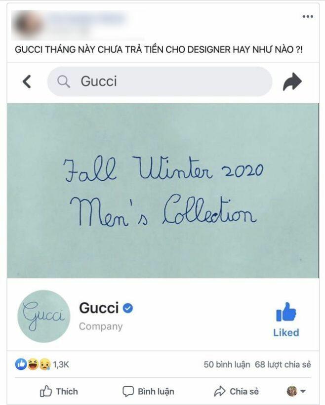 """Gucci treo avatar và cover """"viết ẩu"""" cũng tạo trend. Chắc designer nghỉ Tết rồi!   News by Thaiger"""