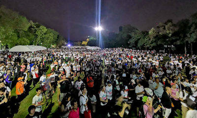 Thousands gather for this morning's protest running event in Bangkok | The Thaiger