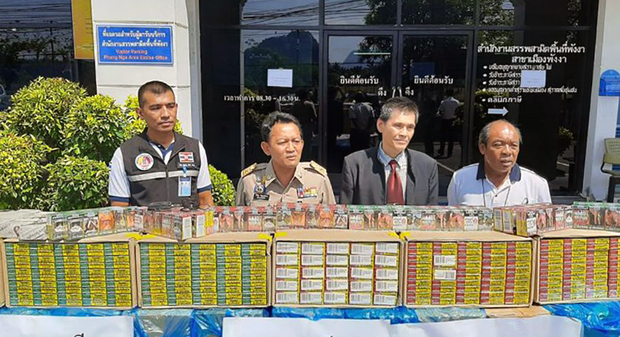 Smuggled cigarettes seized in Phang Nga valued at 6 million baht | The Thaiger