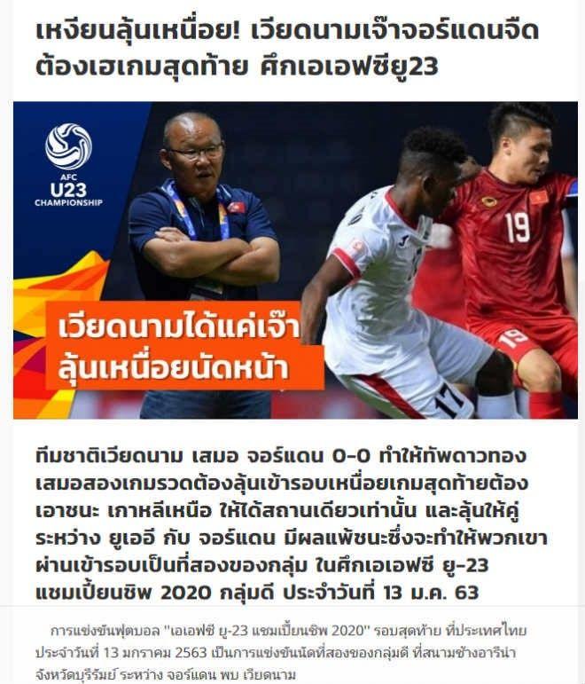 U23 Việt Nam hòa Jordan: Báo châu Á thất vọng, báo Thái Lan gây bất ngờ | News by Thaiger