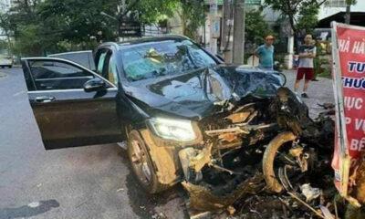 TP. HCM: Ô tô Mercedes tông tài xế Grab tử vong và tiếp viên hàng không bị thương | Thaiger