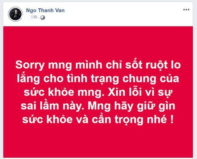 Ngô Thanh Vân xin lỗi sau khi đăng tin sai lệch về virus corona | News by Thaiger
