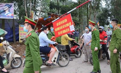 """Cận cảnh hình ảnh """"tâm dịch"""" bị cách ly tại huyện Bình Xuyên, Vĩnh Phúc   The Thaiger"""