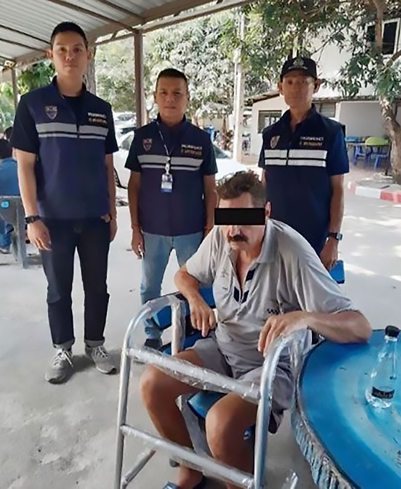 """Disabled Belgian man busted by Chon Buri's """"smart car"""" 
